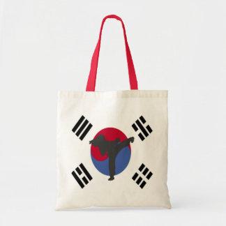 La bolsa de asas del golpeador del Taekwondo