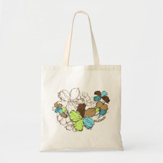 La bolsa de asas del hibisco del Doodle
