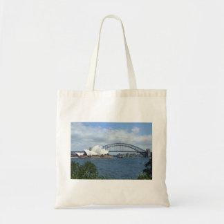 La bolsa de asas del horizonte del puerto de