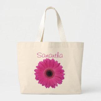 La bolsa de asas del jumbo de la flor de Fuschia