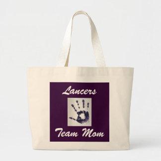 La bolsa de asas del jumbo de la mamá del equipo d