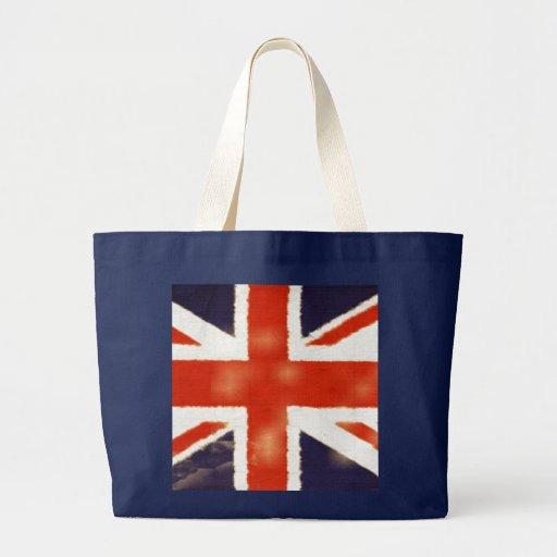La bolsa de asas del jumbo de Union Jack del vinta