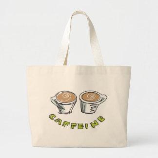 La bolsa de asas del jumbo del cafeína