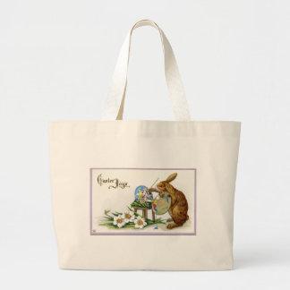 La bolsa de asas del jumbo del conejito de pascua