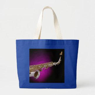La bolsa de asas del jumbo del saxofón