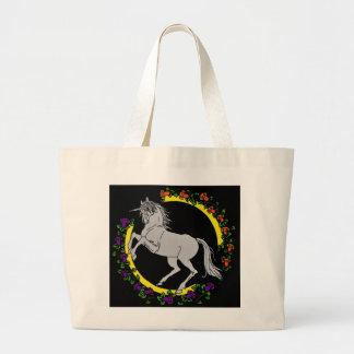 La bolsa de asas del jumbo del unicornio