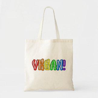 La bolsa de asas del logotipo del arco iris del