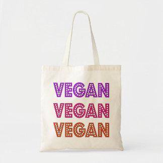 La bolsa de asas del logotipo del vegano