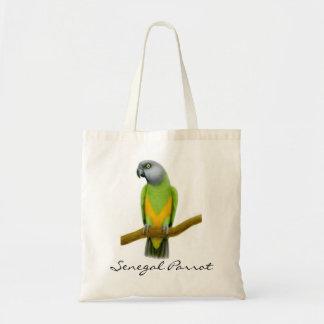 La bolsa de asas del loro de Senegal