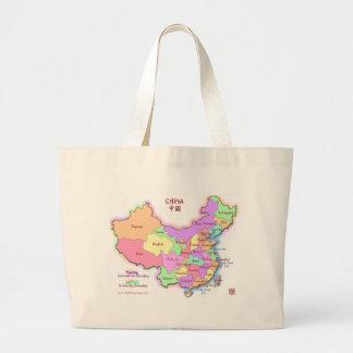 La bolsa de asas del mapa de China