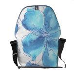 La bolsa de asas del mensajero - hibisco azul - ac bolsas de mensajeria