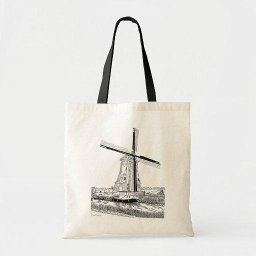 La bolsa de asas del molino de viento y del barco