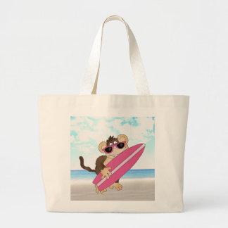 La bolsa de asas del mono de la playa