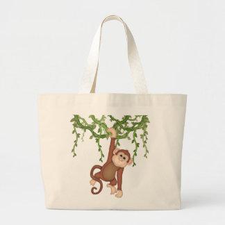 La bolsa de asas del mono de la selva