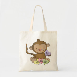 La bolsa de asas del mono del caramelo