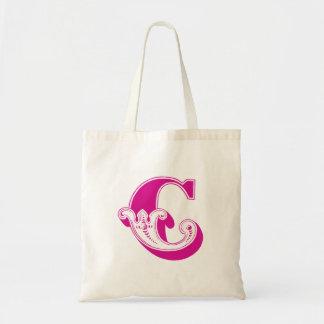 """La bolsa de asas del monograma """"C"""""""