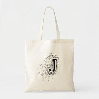 """La bolsa de asas del monograma """"J"""""""