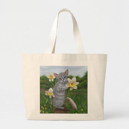 La bolsa de asas del narciso de la rata del gatito
