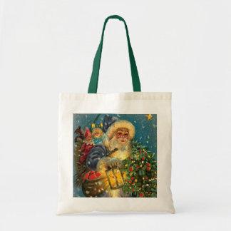 La bolsa de asas del navidad de Papá Noel que bril