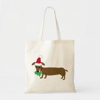 La bolsa de asas del navidad del Dachshund