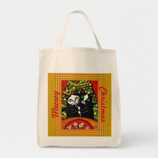 La bolsa de asas del navidad del texto de Tux del