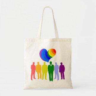 La bolsa de asas del ORGULLO GAY (bandera gay)