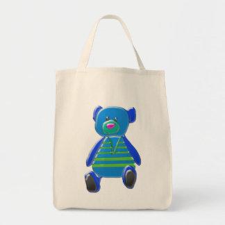 La bolsa de asas del oso del dibujo animado