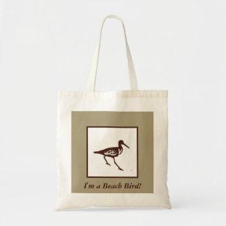 La bolsa de asas del pájaro de la playa