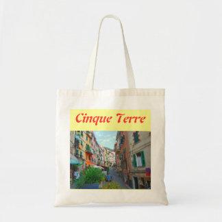 La bolsa de asas del paño de Cinque Terre Italia