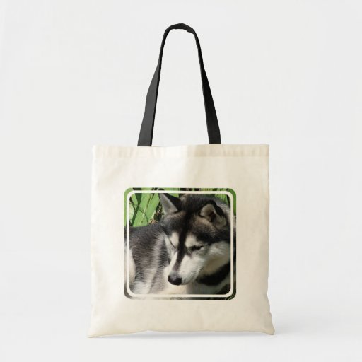 La bolsa de asas del perfil del husky siberiano