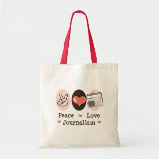 La bolsa de asas del periodismo del amor de la paz