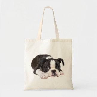 La bolsa de asas del perrito de Boston Terrier
