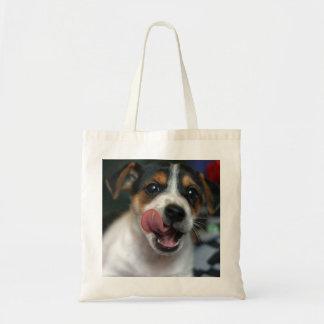 La bolsa de asas del perrito de Jack Russell Terri