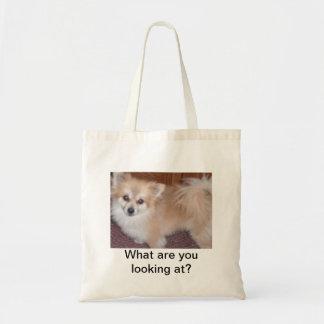 La bolsa de asas del perrito de Pomeranian