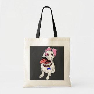 La bolsa de asas del perrito del pitbull