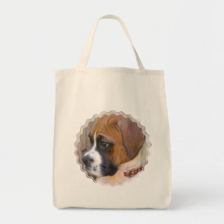 La bolsa de asas del perro de perrito del boxeador