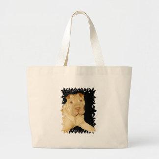 La bolsa de asas del perro de Shar Pei