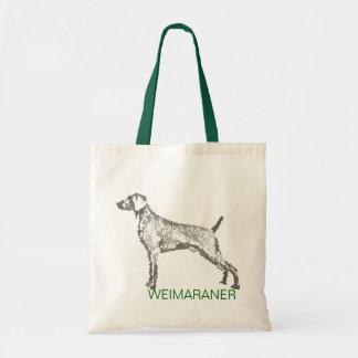 La bolsa de asas del perro de Weimaraner
