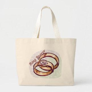 La bolsa de asas del portador de anillo