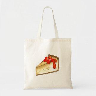 La bolsa de asas del postre del pastel de queso