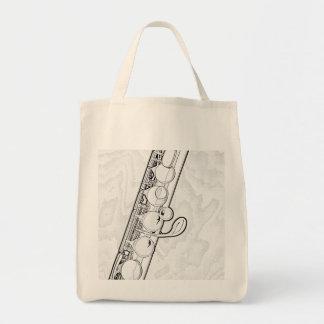 La bolsa de asas del presupuesto de la flauta