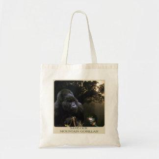La bolsa de asas del primate del gorila de montaña