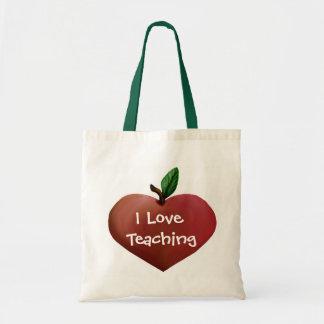 La bolsa de asas del profesor en forma de corazón