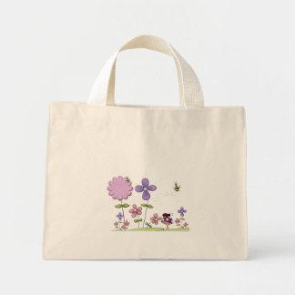 La bolsa de asas del remiendo de la flor