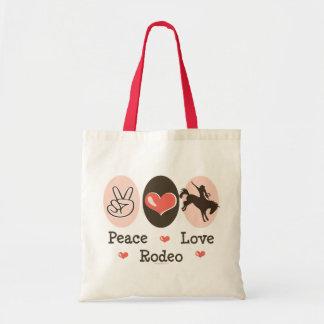 La bolsa de asas del rodeo del amor de la paz
