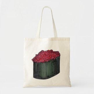 La bolsa de asas del rollo de sushi del caviar