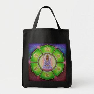 """La bolsa de asas del ronquido de Kuan Yin """"OM Mani"""