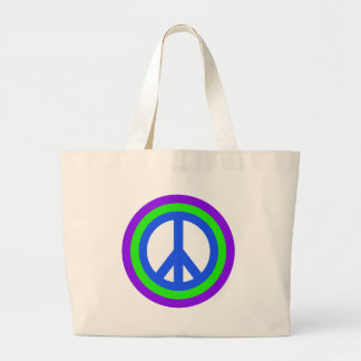 La bolsa de asas del signo de la paz del arco iris