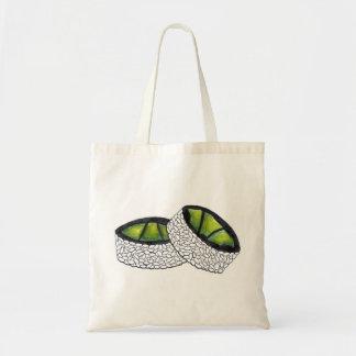 La bolsa de asas del sushi del rollo del aguacate