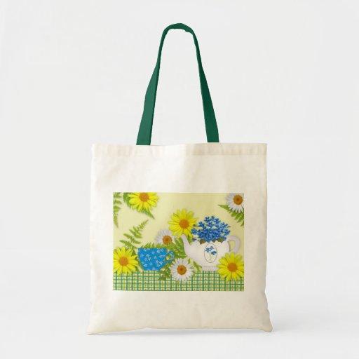 La bolsa de asas del té del jardín